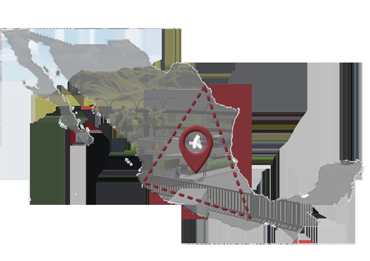 Ubicado en el Corredor Industrial de México